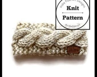 Knitting Pattern // Cable Twist Knit Headband // Child - Adult Sizes // Chunky Super Bulky // Evangola Head Wrap