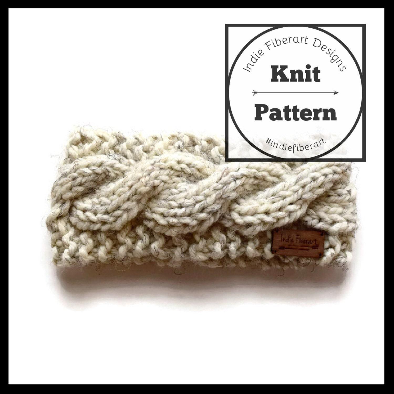 Headband Head Wrap Knitting Pattern : KNITTING PATTERN // The Evangola Head Wrap // Cable Twist Knit