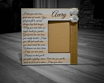 My Wish Lyric Frame |  I Hope You Dance | Personalized Song Lyric Frame | Custom Lyric Frame
