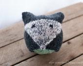 Gray Fox Baby Hat, 1-3 Month Knit Hat, Alpaca Hat, Photo Prop, Newborn Hat, Newborn, Knit Hat, Newborn Animal Hat, Newborn Fox, Fox Hat