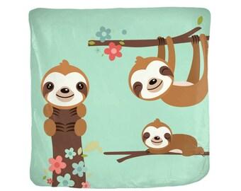 Sloth Blanket  Soft Velveteen  4 Sizes