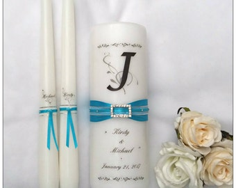 Unity Candle Set - Monogram Unity Candle  - Personalised Unity Candle - Unity Candle - Wedding Candles