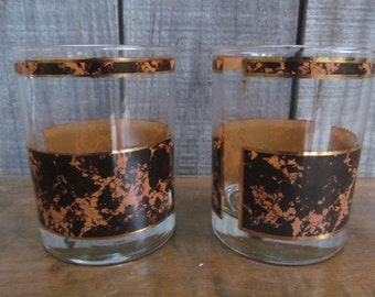 Mid Century Lo Ball Cocktail Glasses ~ Set of Two ~ Man Cave Barware