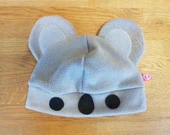 Cute koala bear fleece hat