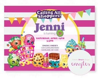 Calling all shoppers birthday invitation