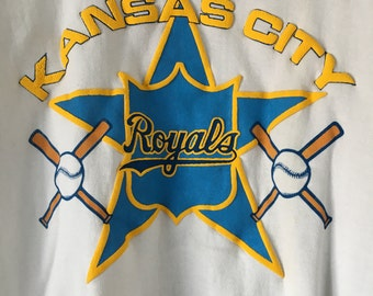 Vintage Baseball Sweatshirt // Kansas City Sweatshirt // Vintage Royals Sweatshirt