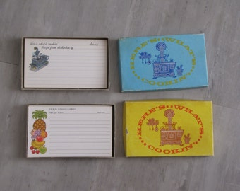 Vintage Recipe Cards - 2 sets - approx 50 recipe cards