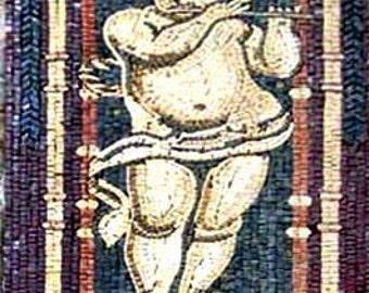 Cherub Angel Mosaic Mural