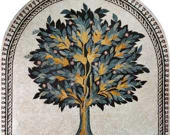Arched Tree Marble Mosaic
