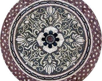 Flower Mosaics Art - Cari Taupe