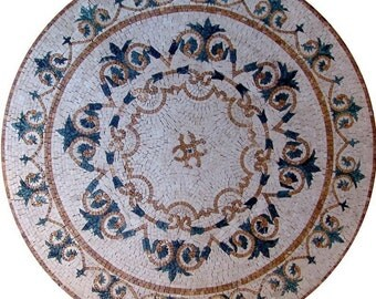Round Floral Mosaic - Paradise
