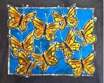 Monarch Butterfly Custom Batik Tshirt