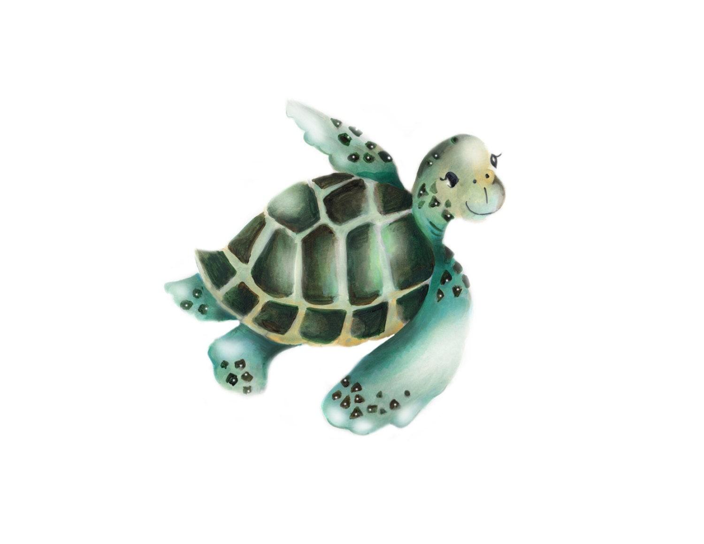Sea Turtle Print Nursery Wall Decor Sea Nautical Ocean