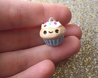 Cupcake Charm Polymer Clay Sprinkle Cupcake