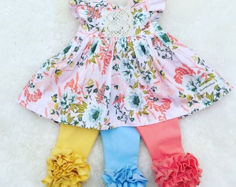 Floral girls fall  dress, baby girl Thanksgiving outfit, toddler  floral dress, newborn coming home outfit, floral burthday dress,  gift