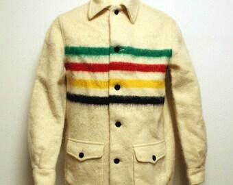 70s vintage Hudson bay blanket coat made in Canada