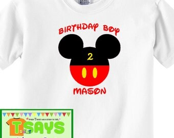 Mickey Mouse Birthday boy shirtsMickey mouse shirt, disney shirt, mickey birthday, birthday party shirt, birthday boy shirt, birthday disney