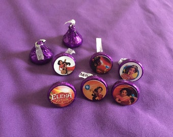 Elena of Avalor Hershey's kisses labels, envelope seals, party favors