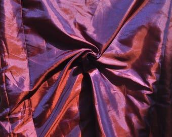 Iridescent plum polysilk Polyester Silk two tone polysilk Fabric by Yard