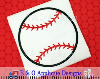 Baseball Applique Design - Baseball Embroidery Design - Softball Applique Design - Sports Applique Design - Machine Embroidery Design