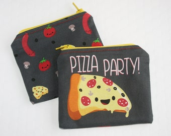 Pizza Coin Purse, Pizza Party Change Purse, Small Money Pouch, Cute Pizzza Money Bag, Pizza Food Purse, Stocking Stuffer, Pizza Lover