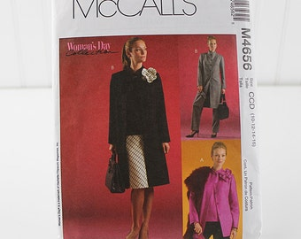 Misses Unlined Jacket in Two Lengths, Uncut Sewing Pattern, McCalls 4656, Size 10-16
