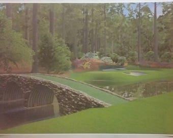 "Augusta  32"" x 24"" Poster Print Masters PGA Golf Course Tour  Club Man Cave Bar"