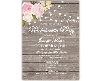 Bachelorette Party Invitation Template, DIY Bachelorette Invite, Cheap Invitation, Rustic Invitation, INSTANT DOWNLOAD Microsoft Word #CL138