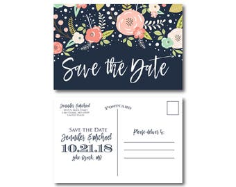 PRINTABLE Save the Date Postcard, Printable Save the Date, Wedding Save the Date, Save-the-Date, Wedding Postcard, Save our Date #CL324