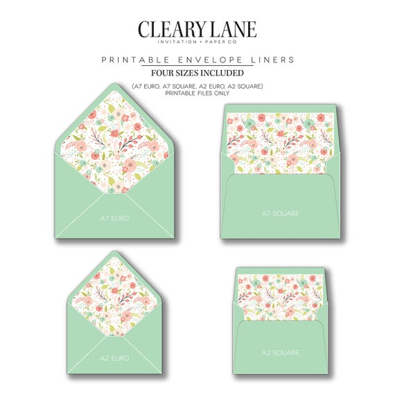 Printable Envelope Liners Invitations Envelope Liners Envelopes