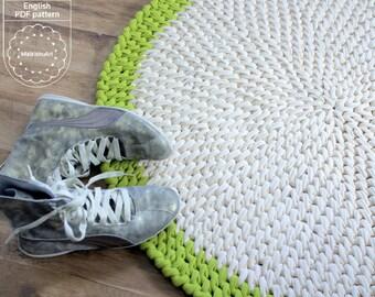 CROCHET RUG PATTERN, diy crochet pattern, pdf rug patterrn, diy rug pattern, Crochet carpet pattern, crochet round rug