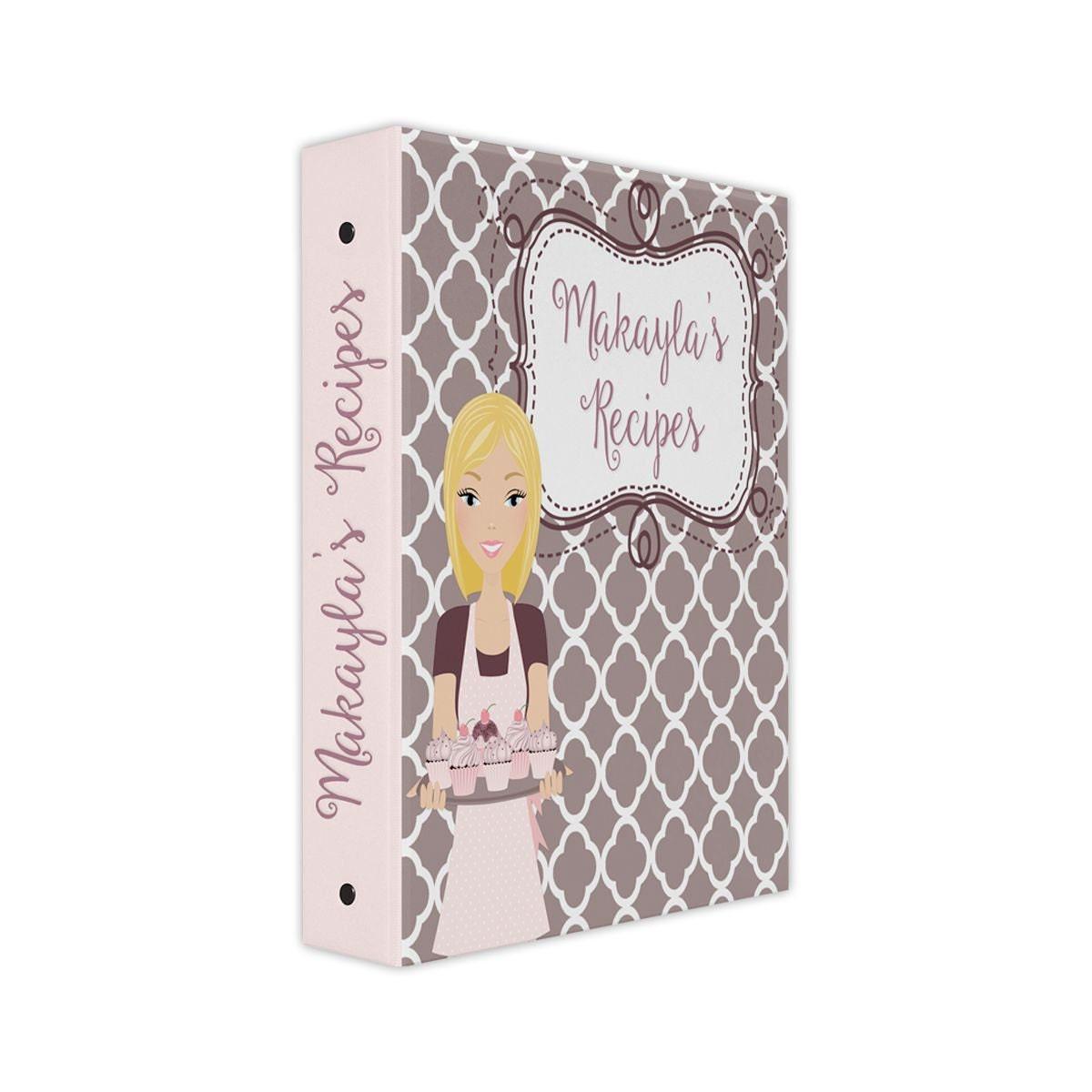 Personalized Recipe Binder Bridal Shower Recipe Book 3 Ring