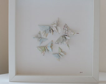 Origami Butterflies - Hereford Map