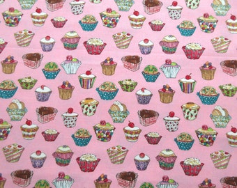 Cupcakes Fabric -  Cake Dessert - Michael Miller 2917  - 100% Cotton  - 1 yard only