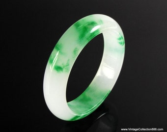 "Jade Bangle green Jade 60 mm-2.48"" inside diameter - JB417"