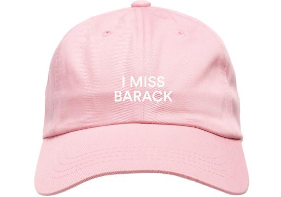 Pink Dad Cap I Miss Barack Obama Low Profile Hat