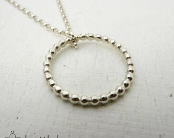 Sterling Silver Pearl Necklace. Sterling silver hoop necklace. Sterling silver Necklace. Sterling silver. Wedding gift. Gift for her.