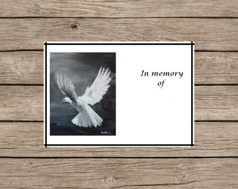 in memoriam cards template - memoriam art print etsy