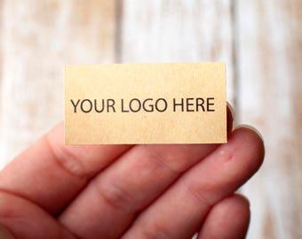 1.4 inch x 0.75 inch rectangle brown kraft paper sticker digital printing