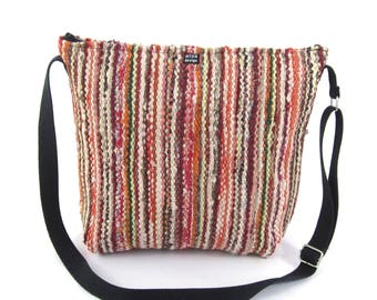 Sanelma - Shoulder Bag made of recycled rag rugs