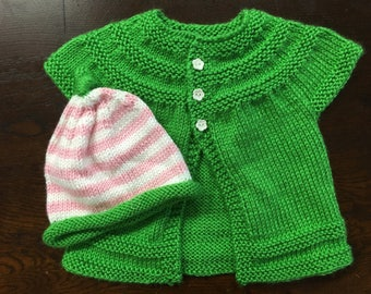 Baby sweater & hat set