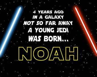 Star Wars Birthday Banner ( --- years ago, in a galaxy)