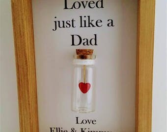Stepdad gift, Step father gift, Fathers day gift for step dad, Thank you gift for step father. Add names or your own message.