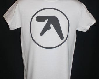 aphex twin logo t shirt 90s warp afx 1990s retro vtg vintage