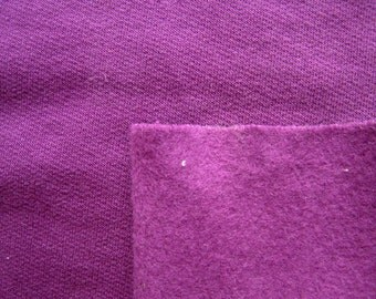 Organic Cotton Sweathshirt Fleece Berry, Sustainable Fabric, By The Yard, Organic Cotton