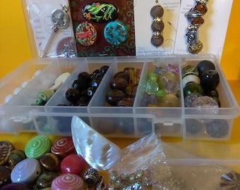 0ver 1.5 lb bead lot / destash new to Mid-Century