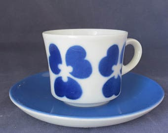 Arabia of Finland, coffee cup and saucer.