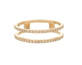 Double diamond eternity ring