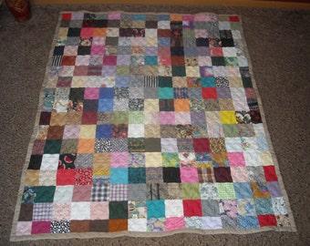 Scrappy Patchwork Quilt - Throw Size Quilt - 50% DEPOSIT