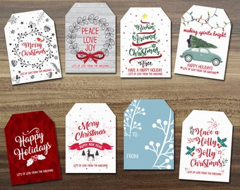 Christmas Tags / DIY Christmas Tag / Printable Christmas Tag